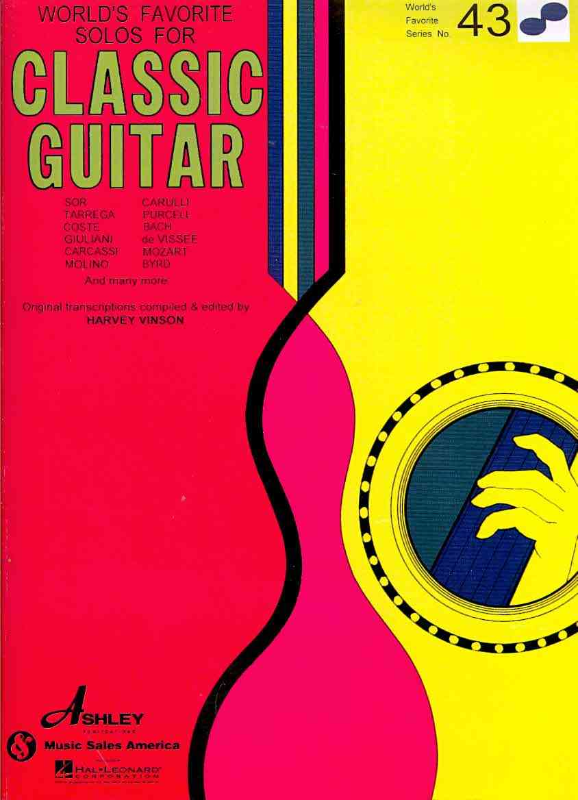 World's Favorite Solos for Classic Guitar By Vinson, Harvey (COM)